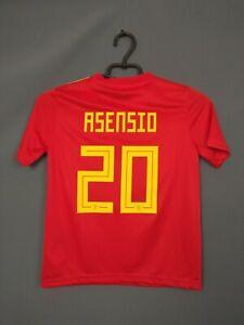 Asensio Spain Jersey 2018/19 Home Kids Boys 9-10 y Shirt Camiseta Adidas ig93