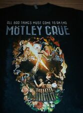MOTLEY CRUE The Final Tour 2014 All Bad Things Must End T-Shirt XL NEW