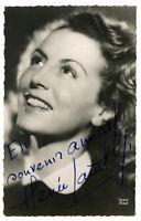 Renée SAINT-CYR Autographe 1943 Autograph Autogramm DEDICACE PHOTO SIGNEE signed