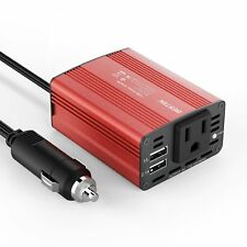 BESTEK 150W Power Inverter DC 12V to 110V Car AC Adapter with 3.1A Dual USB port