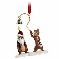 DISNEY STORE CHIP AN DALE 2011 SKETCHBOOK ORNAMENT NEW Pluto's Christmas NWTs