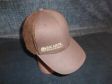 Old Vtg BACARDI ROCK COCONUT MEN'S HAT Baseball Cap Advertising Distillery