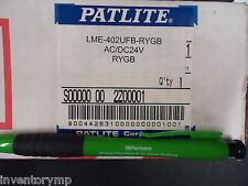 Patlite LME-402UFB-RYGB 24V 4-Light Safety Tower. Brand New!