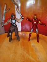 "MARVEL UNIVERSE WHIPLASH & IRON MAN 3.75"" action figure lot"