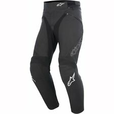 *NEW* Alpinestars Jagg Leather Motorcycle Trouser Black/White - UK32 / EU 52 Reg