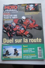 MOTO JOURNAL 1266 Essai Road Test HONDA CB 500 Four VTR 1000 SUZUKI TL 1000 S
