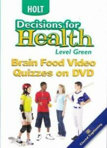 Holt Decisions For Health Brain Food Video Quizzes Green Level DVD learning tool