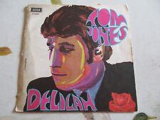 """TOM JONES DELILAH + SMILE DECCA ITALY 7"""" 45 GIRI Ottimo"""