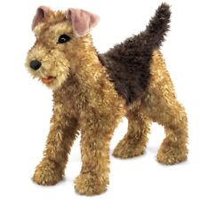 AIREDALE TERRIER Dog Puppet  2993 ~ FREE SHIPPING in USA ~ Folkmanis Puppets