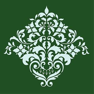 LARGE WALL DAMASK STENCIL FAUX MURAL DESIGN #1003