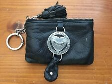 Juicy Couture Black Leather Key Chain Wallet