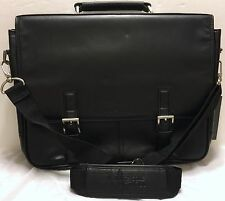 Kenneth Cole Leather Messenger Bag A Brief History School Work Office Travel