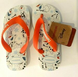 Havaianas Kids 11/12 Olaf Flip Flops USA Factory Imperfect Disney Frozen