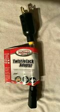 New listing Twist To Lock 9 Inch Adapter pro power 12 guage 5/15 To L5/20 New