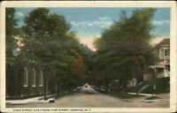 Corning NY First St East From Pine c1920 Postcard