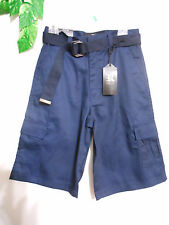 CARGO  SHORTS  (BOYS)  6 POCKET...   NAVY / WITH ADJUSTABLE  BELT