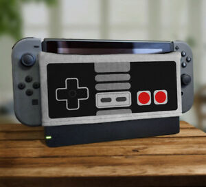 80's Controller Pad Dock Sock Screen Protector Cover For Nintendo Switch Nes New