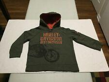 HARLEY - DAVIDSON Boy's Pullover Hooded Sweatshirt (6) Gently Worn Item (NICE) !