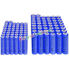 50 AA 3000mAh + 50 AAA 1800mAh battery Bulk Nickel Hydride Rechargeable 1.2V Blu