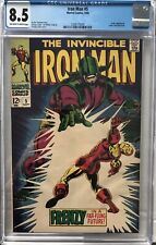 The Invincible Iron Man #5 8.5 Cgc VF+ Silver Age US Cents Book September 1968