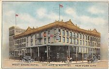 1909 West Shore Hotel 11th Ave. & 42nd St. NY NY post card Manhattan