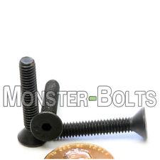 "#8-32 x 1"" - Qty 10 - Flat Head Socket Caps Screws SAE Alloy Steel Black Oxide"