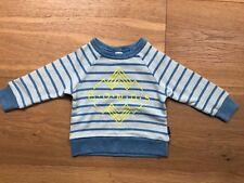 Bonds Baby Blue Stripe Logo Jumper Size 1 NWT