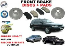 FOR SUBARU LEGACY SALOON ESTATE OUTBACK 92-ON FRONT BRAKE DISCS SET + PADS KIT