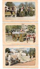 3 ct Postcard lot PASADENA ROSE PARADE NEW YEARS DAY TOURNAMENT vintage antique