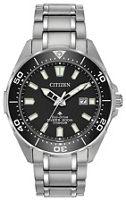 New Citizen Promaster Diver Eco Drive Black Dial Men's Titanium Watch BN0200-56E