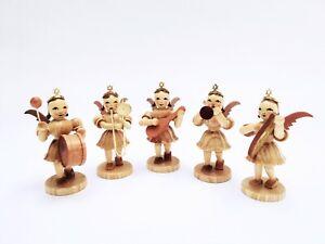 Blank Vintage Kurzrock Engel 5er Set Pauke Zugposaune Mandoline Fanfare Leier