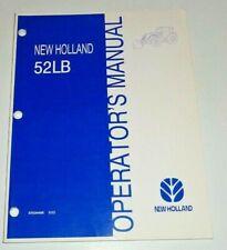 New Holland 52lb Loader Operators Manual 803 Nh Fits Tl80 Tl90 Tl100 Tractors