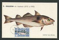 ST. PIERRE MK 1972 FISCHE FISH PECHE MAXIMUMKARTE CARTE MAXIMUM CARD MC CM d7047
