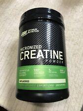OPTIMUM NUTRITION MICRONIZED CREATINE POWDER UNFLAVORED 240 SERVINGS FRESH