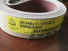 Klingspor Ls309 1 12 X 64 400 Grit Sanding Belt Aluminum Oxide Germany