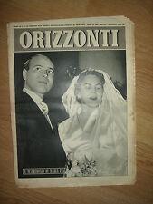 RIVISTA ORIZZONTI - N.8 DEL 20 FEBBRAIO 1955 (OK3)