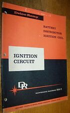 1959 DELCO REMY BATTERY DISTRIBUTER IGNITION CAR AUTO MANUAL GENERAL MOTORS GM
