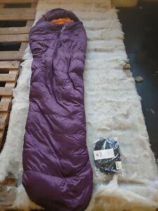 Mountain Equipment helium 400  Sleeping Bag long/left zip blackberry