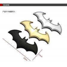 Car Motorcycle Metal Emblem Badge Bat Batman 3D Logo Gold / Silver / Black 8x2.4