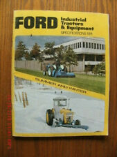 Ford Industrial Tractors & Equipment Specifications 1971 summer and winter
