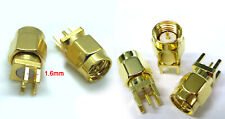 Gold plating 5-pin SMA Male Solder Edge space PCB Mount Straight RF Connector
