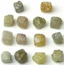 10 + Quilate Natural Rough Diamante Diamantes 3/4 Cubos Gemas