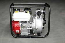 "New 6.5HP 2"" Twin Impeller Petrol Water Transfer Pump Fire Fighting High flow"