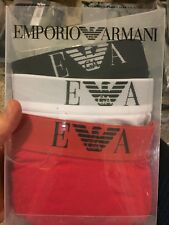 Emporio Armani Men's 3-Pack Cotton Boxer Briefs Sz: S (8052552895865)
