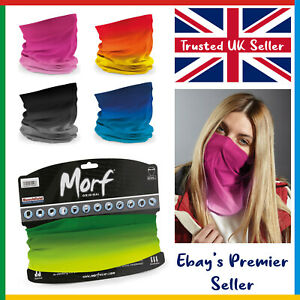Beechfield 3 in 1 Face Cover Morf OMBRE Snood Scarf Neck Breathable Mask