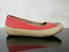 Fitflop Red Canvas And Leather Suede Casual Slip On Loafer Flats Women's 8