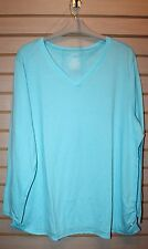 NEW WOMENS PLUS SIZE 4X 28W BLUE ICE LONG SLEEVE WICKING ACTIVE TEE T SHIRT TOP