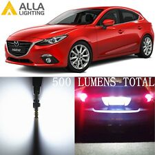 Alla Lighting 6000K License Plate Light White 2825L LED Bulbs Tag Lamp for Mazda