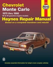 Repair / Service Manual Haynes 24055 fits Chevrolet Monte Carlo (1970 - 1988)