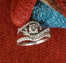 Diamond Engagement Ring 14k White Gold Wedding Band Bridal Set 1.03 TCW REDUCED!